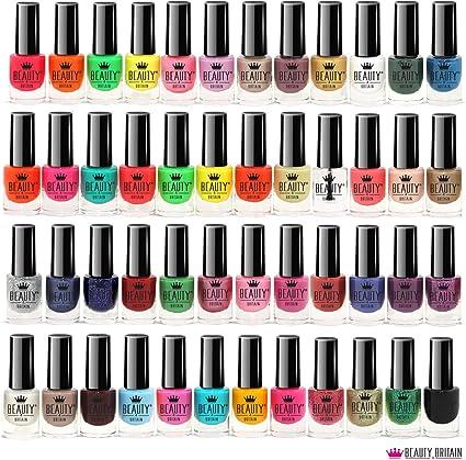 Set De 48 Esmalte De Uñas 48 Colores Diferentes Botella Moderna De 5 ml: Amazon.es: Belleza