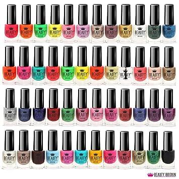 48 X Nail Polish Varnish Set 48 Different Bright Modern Colours Uk