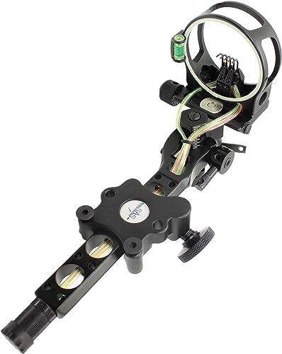 "Southland Archery Supply SAS CNC Aluminum 5 Pin .019"" Tool-Less Bow Sight"
