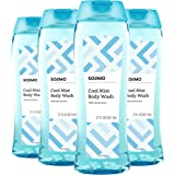 Amazon Brand - Solimo Body Wash, Cool Mist Scent, 21 Fl Oz (Pack of 4)