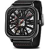 Mens Watch Mechanical Stainless Steel Skeleton Movement Watch Waterproof Automatic Self Winding Rome Number Diamond Wrist Wat