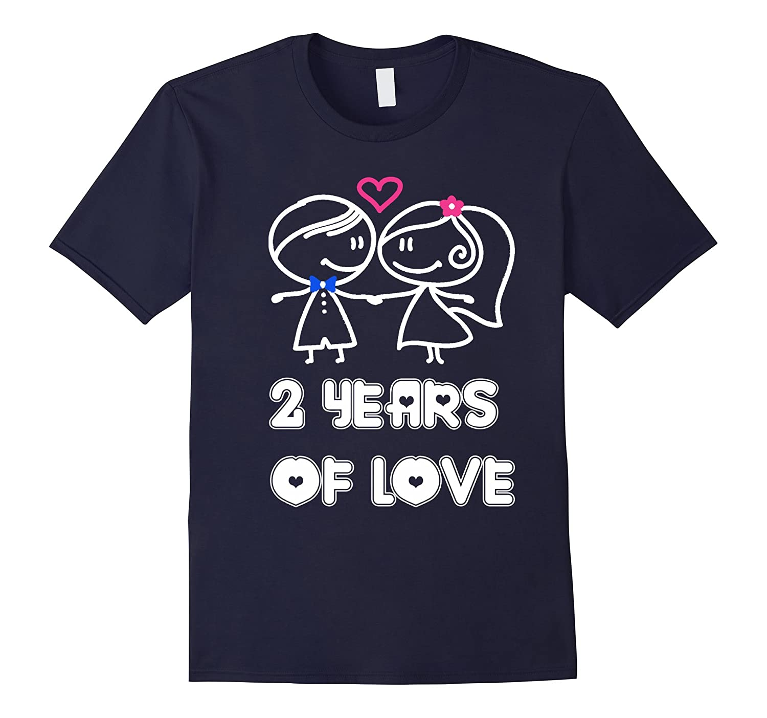 2 Years Of Love Shirt - 2nd Wedding Anniversary Gifts-CD