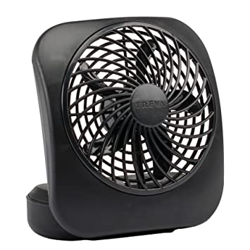 O2COOL 5-Inch Portable Desktop Air Circulation Battery Fan