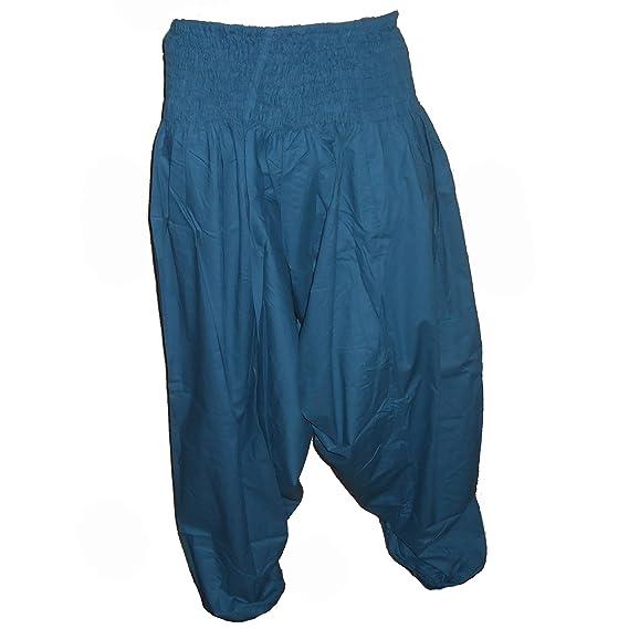 Sarouel pantalon homme femme 100% Coton plusieurs couleurs disponibles  (Bleu canard) Amazon.fr Vêtements et accessoires