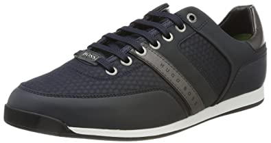 BOSS Green Shuttle_Tenn_Tech, Zapatillas Para Hombre, Azul (Dark Blue), 44 EU