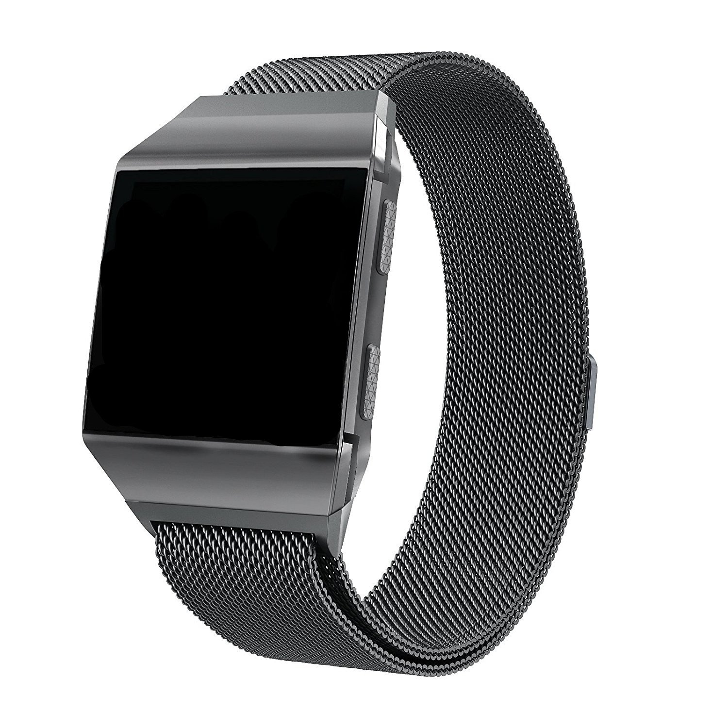 Fitbit Ionic Bands Accessories, SWAWS Milanese Loop Stainless Steel Watch Band Strap with Magnetic Lock for Fitbit Ionic Smartwatch,Small and Large ...