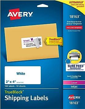 Avery Organisations Etiketten im Block 50 x 19 mm