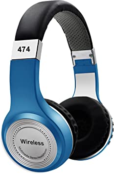 Amazon Com 500 Mah Battery Bluetooth Wireless Headphones Foldable Stereo Bass Headset With Built In Microphone Cordless Earphones For Iphone Samsung Blue Home Audio Theater