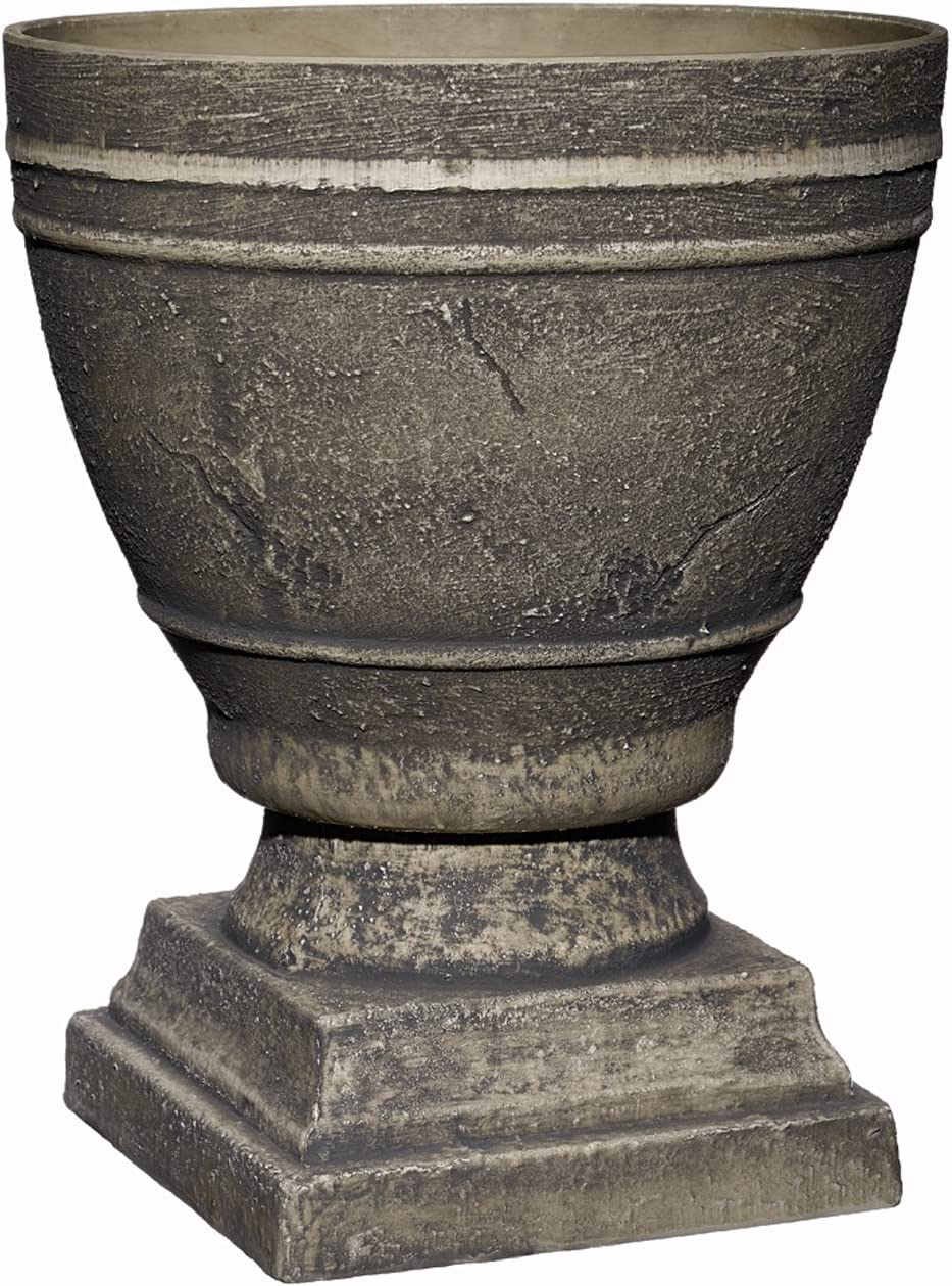 "Spartan Urn, Cast Concrete, 14.75"" Height X 12"" Diameter"