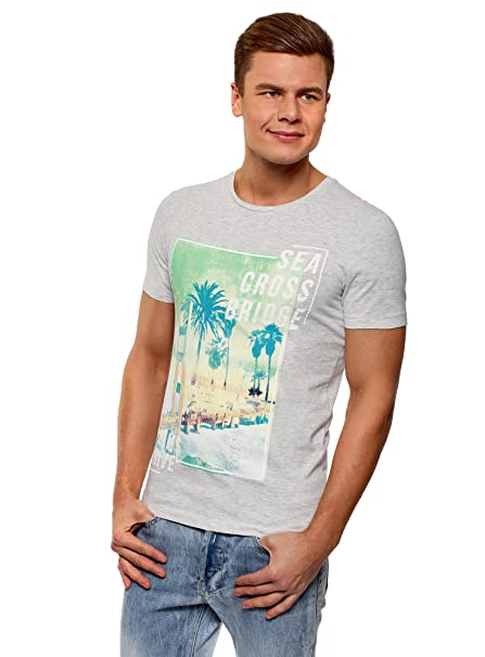 oodji Ultra Hombre Camiseta Básica (Pack de 3) WloC1z0Wqb
