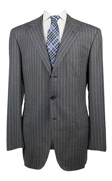 Amazon.com: Brioni Parlamento Gris Tamaño Super 160 traje de ...