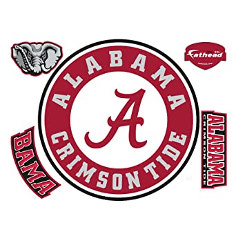 Amazon Fathead Alabama Crimson Tide Logo Wall Decal Sports
