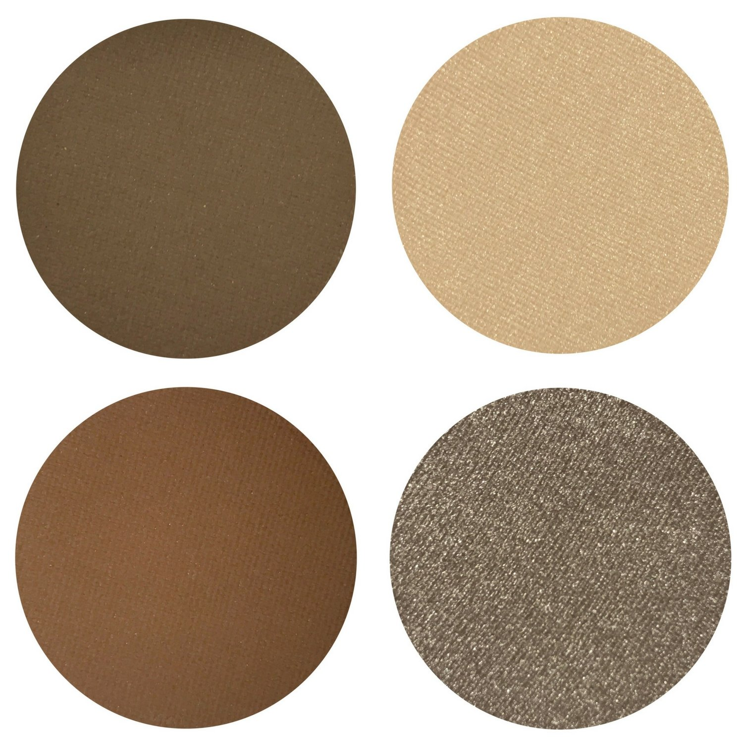 Coffee n Cream Eyeshadow Quad Palette - 4 Highly Pigmented Single Powder Eye Shadow Pans, Magnetic Refill 26mm, Professional Quality Makeup, Paraben and Gluten Free, Cruelty Free Cosmetics