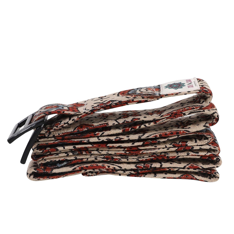 Ajrak Hand Block Printed Yoga Straps Yoga Belt Equipment Stretch Strap Yoga Prop Yoga Hand stitched belts