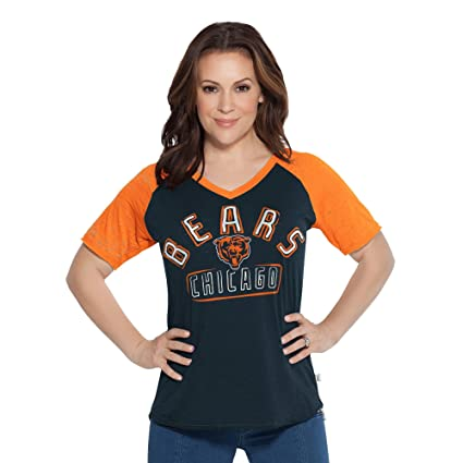 71ab4c2d8 Touch by Alyssa Milano NFL Chicago Bears Women s Ace V-Neck Short Sleeve  Tee