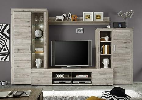 elbectrade Soggiorno moderno Iago, composizione mobile porta tv con ...