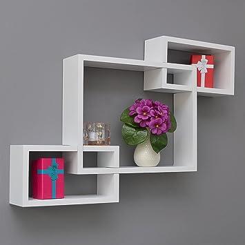 Hängeregal design  3er Set Lounge Regal Board Weiß Design Retro Cube Wandregal ...