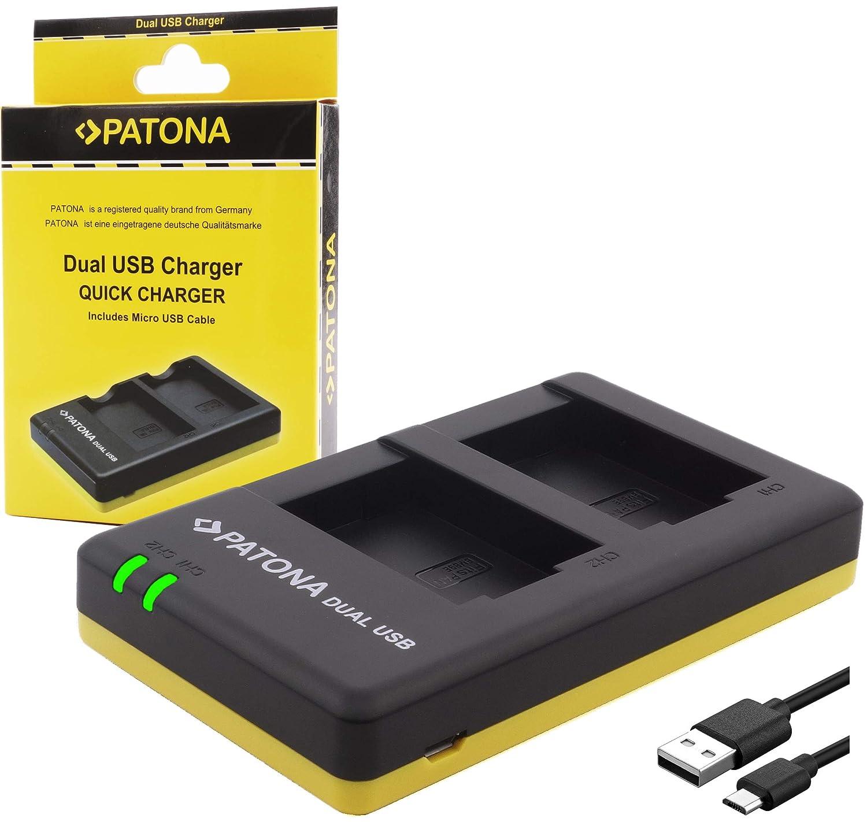 Patona 1927 - USB Dual Cargador para batería SONY NP-FZ100 a Sony Alpha ILCE 7 III / Alpha 7R III / Alpha 9