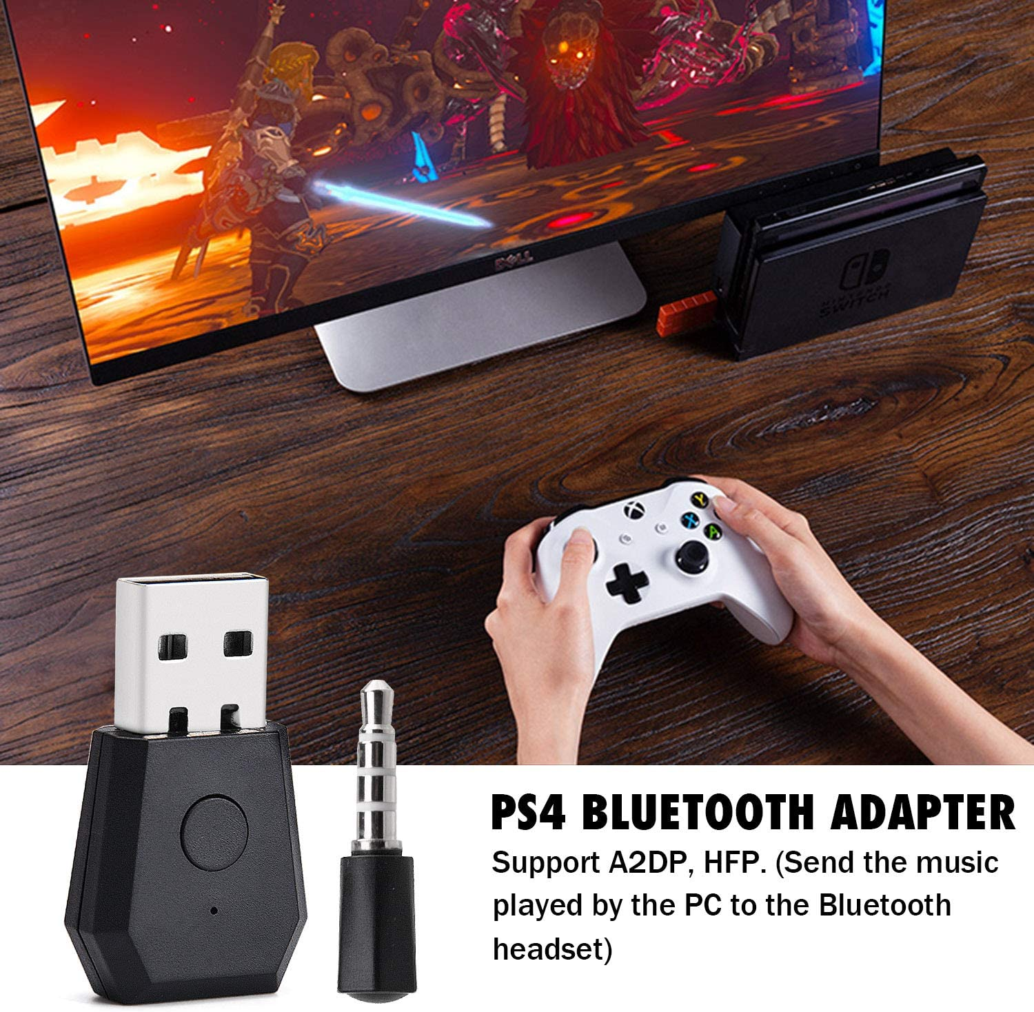 Amazon Com Wireless Bluetooth Adapter Usb Adapter Bluetooth Transmitter For Ps4 Playstation Bluetooth 4 0 Headsets Receiver Headphone Dongle Home Audio Theater