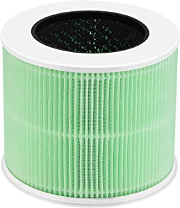 isinlive Vortex V1 Air Purifier Replacement Filter, True HEPA Filter, High-Efficiency Activated Carbon Filter for Whole Home Air Purifiers, Clean Air Dust Filter (Pack of 1)