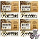 Dark Roast Single-Serve Coffee Pod Variety Pack, 72 Capsules for Keurig K-Cup Brewers, Fresh Roasted Coffee LLC. (72 Count)