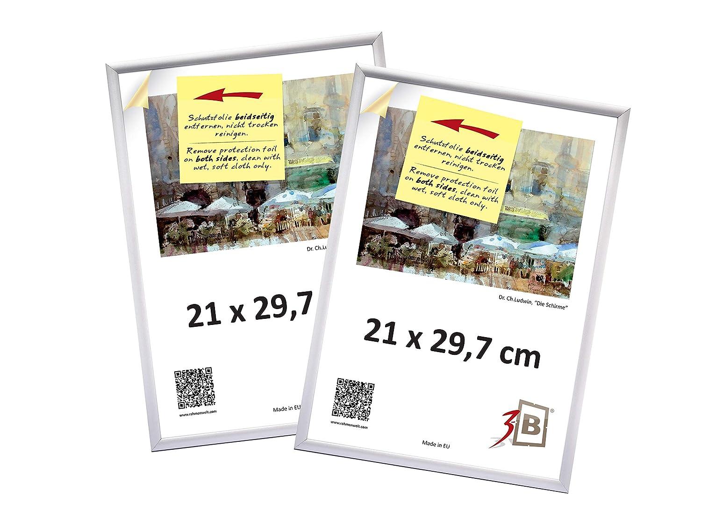 3B Conjunto de 2 piezas FOTO - de plástico marcos de fotos - 21x29,7 cm (A4) - blanco