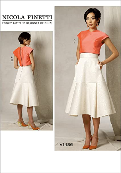 McCall/'s Pattern M7355 ~ Misses/' Crop Top And Gathered Skirts ~ Size A5 E5