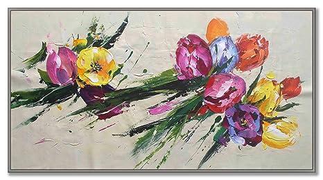 Mazzo di fiori - Esplosione di colori - Quadro moderno - Arte ...
