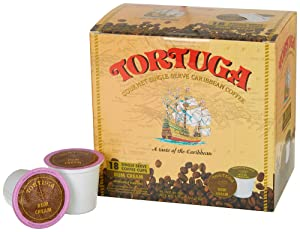 Tortuga Gourmet Single Serve Caribbean Coffee - 18 Single Serve Cups - Rum Cream Flavor