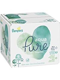 Pampers Aqua Pure 6X Pop-Top Sensitive Water Baby Wipes