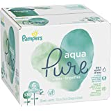 Pampers Aqua Pure 6X Pop-Top Sensitive Water Baby Wipes