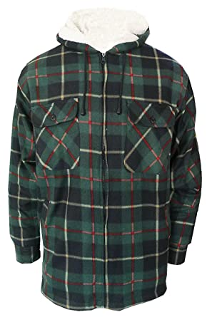 Surplus Clic Lumberjack Hooded Jacket Mens Woodcutter Check