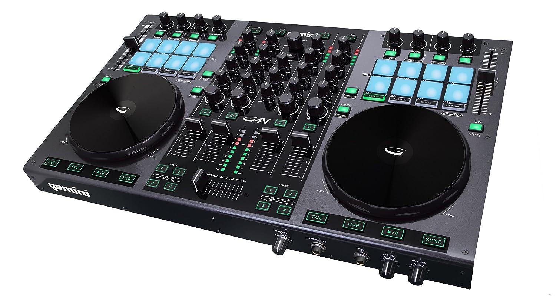 gemini dj G4V Controller 4 Channel Midi with Soundcard
