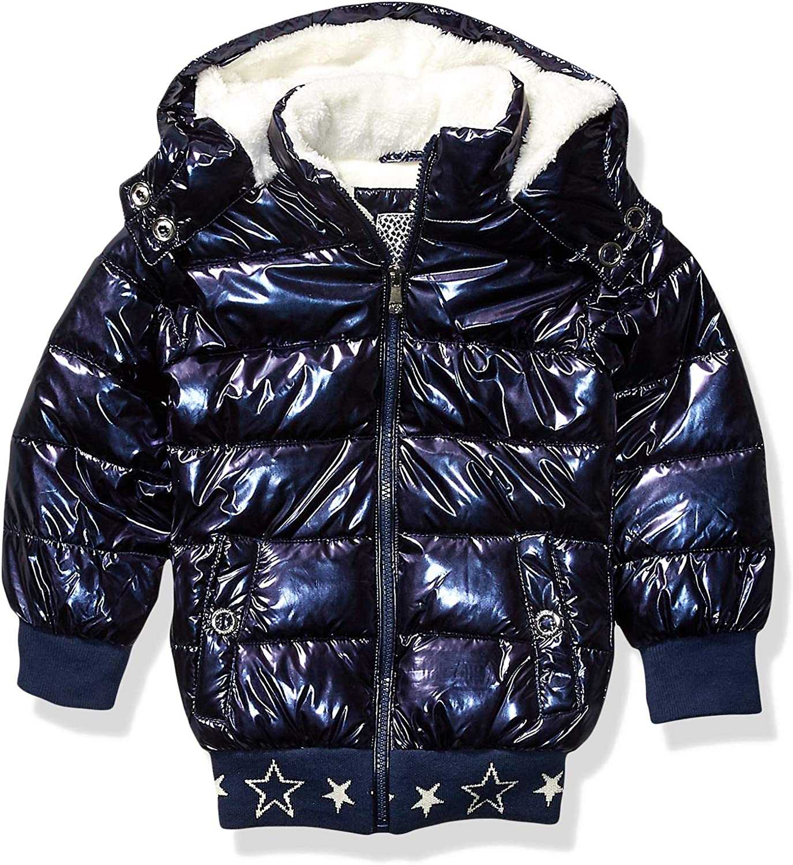 Girls Outerwear girls Metallic Puffer Jacket Kensie