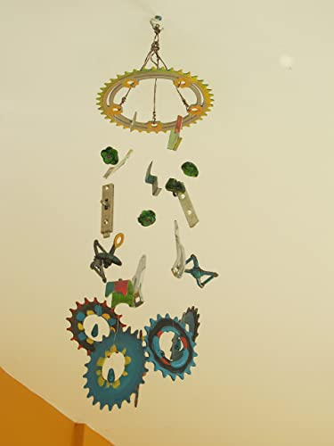 Amazon Com Recycled Bicycle Art Windchime Made With Repurposed Bike