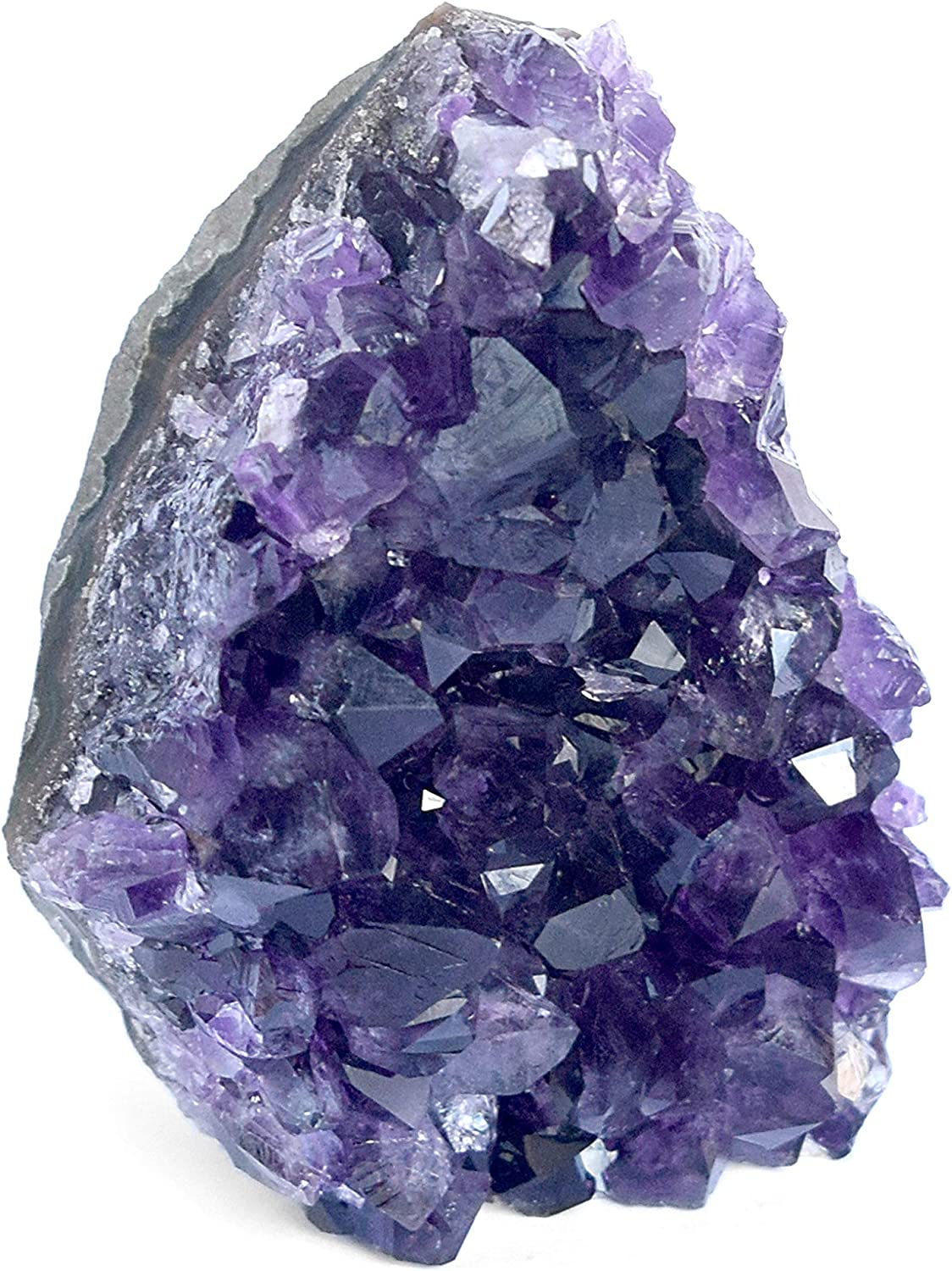 Deep Purple Project Large Amethyst Geode Crystal from Uruguay 1.5 to 2 Lb Includes Gift Box for Stone Lovers (1.5 to 2 Lb.)