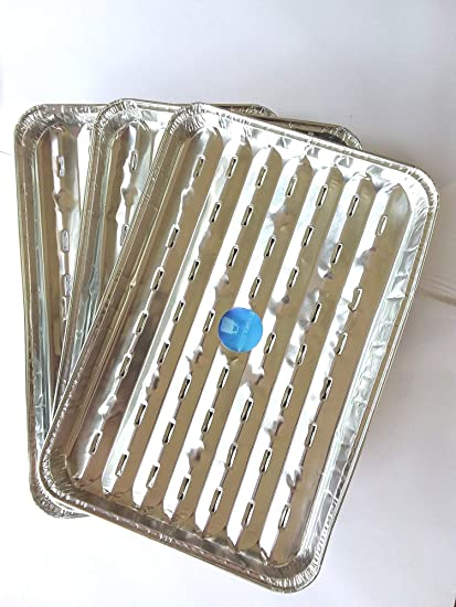 Shield up bandejas para barbacoa de aluminio, paquete de 3.