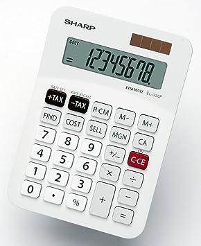 sharp 8 digit desk top calculator with cost sale margin amazon co