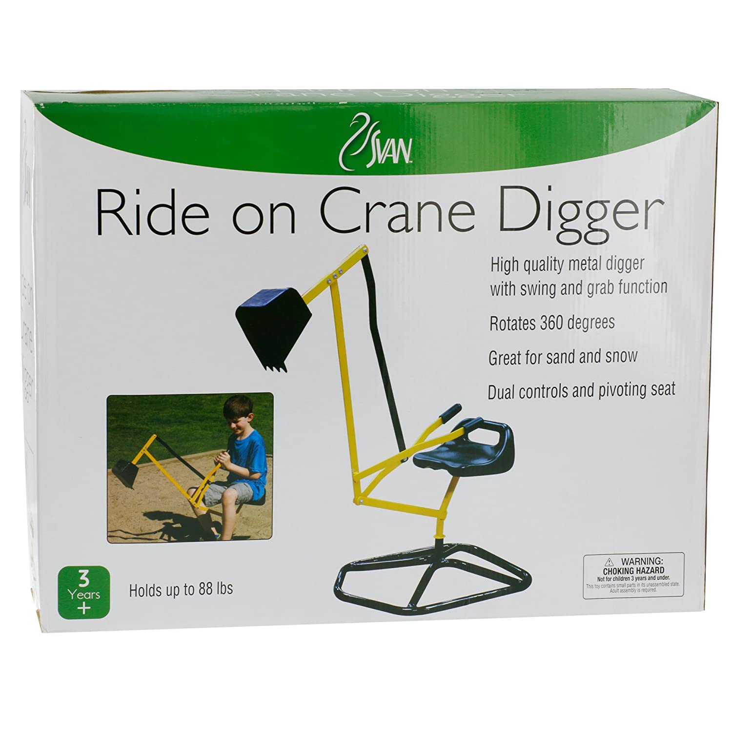 amazon com ride on crane digger mechanical digging metal outdoor