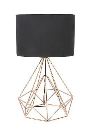 Amazon Com Deco 79 50589 Metal Wire Table Lamp Black Home Kitchen