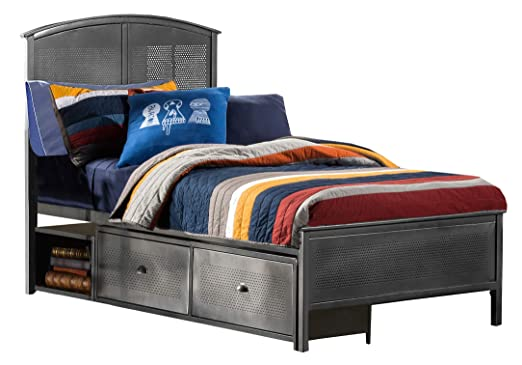 Amazon.com: Hillsdale Furniture 1265BFRPS Urban Quarters Panel Storage Bed with Rails Full Black Steel: Kitchen & Dining