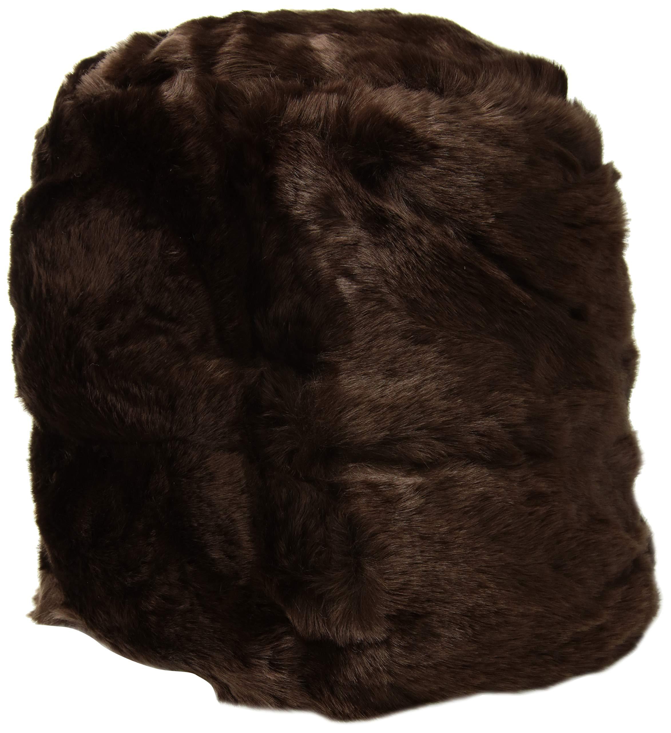 Nine West Women's Faux Fur Cuff Cloche, Brown one Size by Nine West (Image #1)