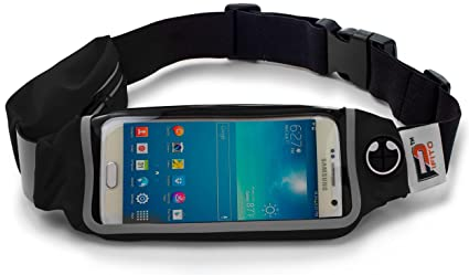 fa809d6f4921 Pifito Running Belt by (TM) - 2 Pocket Design Waist Pack for iPhone & Keys  - Fanny Pack Pouch for Sports, Exercise, Jogging or Gym Workout