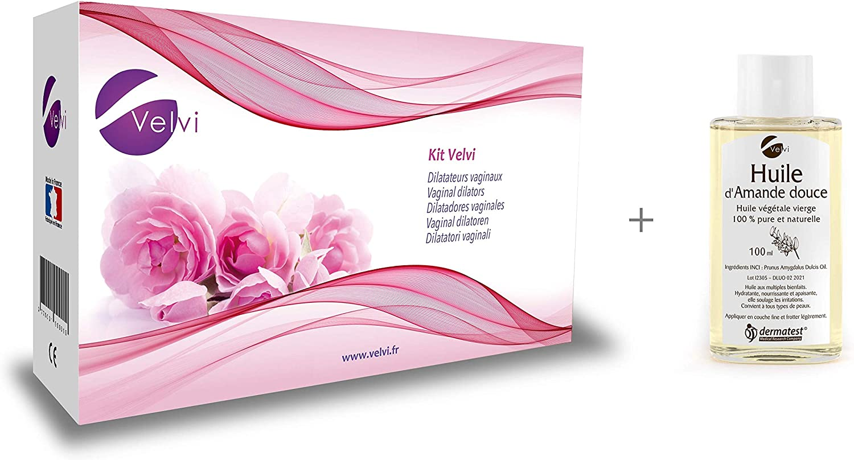 PAN - Kit Velvi (6 Dilatadores vaginales) + Aceite de almendras dulces (100 ml)