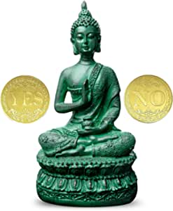 Antique Buddha Statue For Home Decor 7 Thai Shakyamuni Sitting Statue Resin With Bronze Finish Great Decoration For Meditation Altar Kitchen Dining Amazon Com