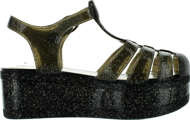 b11f4ce777 SNJ Nature Breeze Womens Disco-01 Jelly Fisherman Platform Sandals,Black  Glitter,10: Amazon.ca: Shoes & Handbags