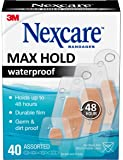 Nexcare Max Hold Waterproof Bandages, Clear, 40 ct Assorted