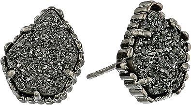 Kendra Scott Tessa Blue Drusy Silver Earrings