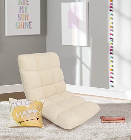 Swell Iconic Home Daphene Adjustable Recliner Rocker Memory Foam Armless Floor Gaming Ergonomic Chair Beige Gmtry Best Dining Table And Chair Ideas Images Gmtryco