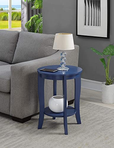 Convenience Concepts , Cobalt Blue American Heritage Round End Table